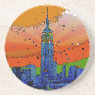 Psychedelic NYC: Empire State Building #3 Coaster