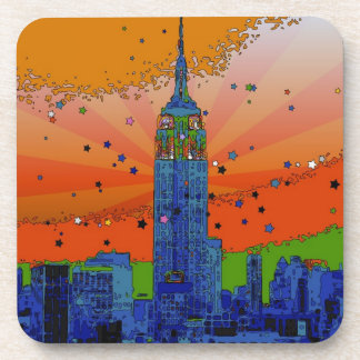 Psychedelic NYC: Empire State Building #3 Drink Coasters