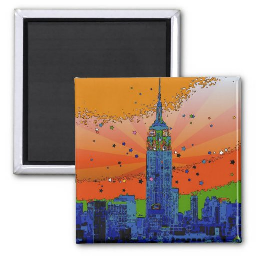 Psychedelic NYC: Empire State Building #3 Magnet