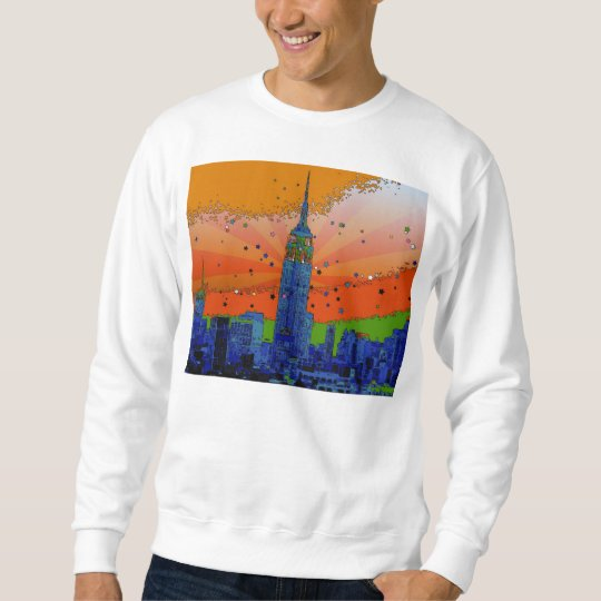 Psychedelic NYC: Empire State Building #3 Sweatshirt