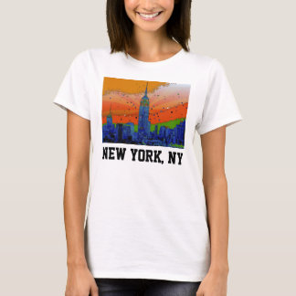Psychedelic NYC: Empire State Building #3 T-Shirt