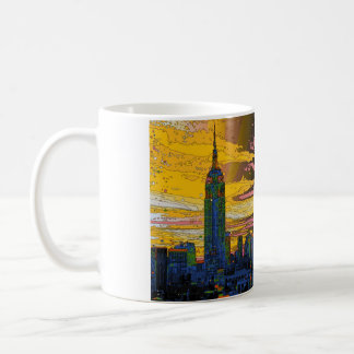 Psychedelic NYC: Empire State Building B4 Coffee Mug
