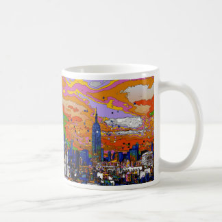 Psychedelic NYC Empire State Building & Skyline A1 Coffee Mug