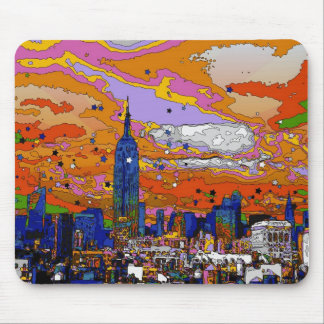 Psychedelic NYC Empire State Building & Skyline A1 Mouse Pads