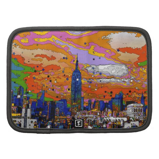 Psychedelic NYC Empire State Building & Skyline A1 Folio Planners
