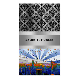 Psychedelic NYC: ESB Wide Skyline View Double-Sided Standard Business Cards (Pack Of 100)