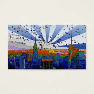 Psychedelic NYC: ESB Wide Skyline View Business Card