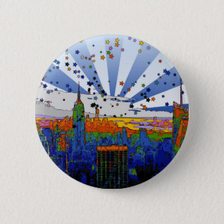 Psychedelic NYC: ESB Wide Skyline View Button