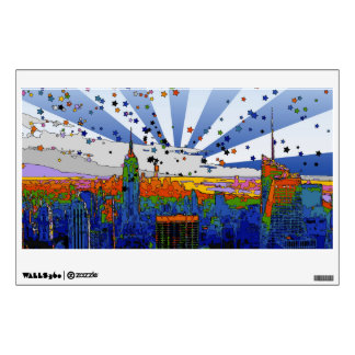 Psychedelic NYC: ESB Wide Skyline View Wall Decor