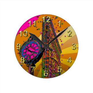 Psychedelic NYC: Flatiron Building & Clock #2B