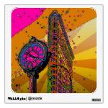Psychedelic NYC: Flatiron Building & Clock #2B Wall Skins