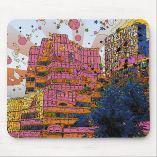 Psychedelic NYC: IAC Building, 100 W 11th Street Mousepads