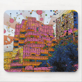 Psychedelic NYC: IAC Building, 100 W 11th Street Mousepad