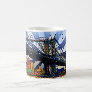 Psychedelic NYC: Manhattan Bridge #1 Coffee Mugs