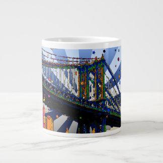 Psychedelic NYC: Manhattan Bridge #1 Extra Large Mug