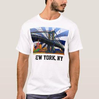 Psychedelic NYC: Manhattan Bridge #1 T-Shirt