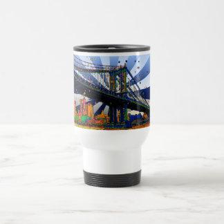Psychedelic NYC: Manhattan Bridge #1 Travel Mug