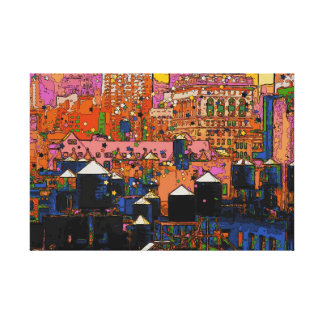 Psychedelic NYC: NYC Water Towers in Winter #9 Canvas Print