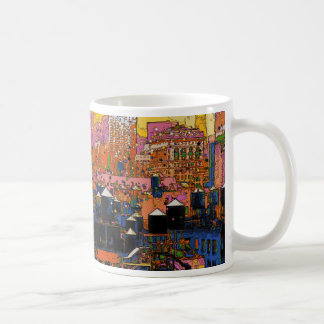 Psychedelic NYC: NYC Water Towers in Winter #9 Coffee Mug