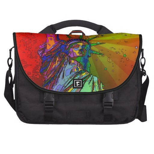 Psychedelic NYC Rainbow Color Statue of Liberty 1R Bags For Laptop