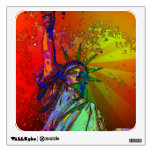 Psychedelic NYC Rainbow Color Statue of Liberty 1R Wall Skins