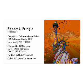 Psychedelic NYC: Statue of Liberty 001 Business Card Templates