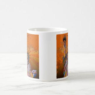 Psychedelic NYC: Statue of Liberty 001 Coffee Mug