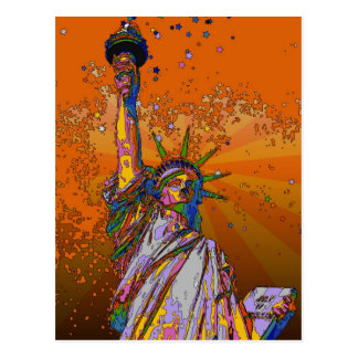 Psychedelic NYC: Statue of Liberty 001 Postcard