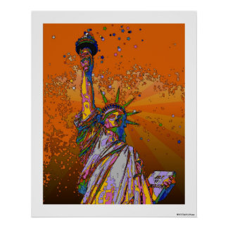 Psychedelic NYC: Statue of Liberty 001 Poster