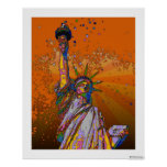 Psychedelic NYC: Statue of Liberty 001 Print
