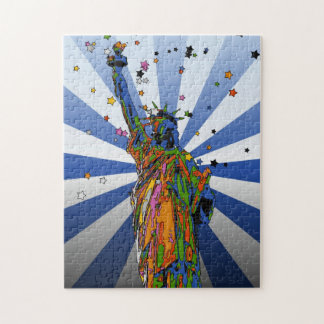 Psychedelic NYC: Statue of Liberty #2 Puzzles