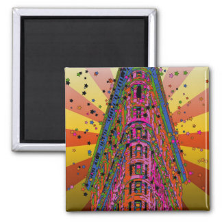Psychedelic NYC - Top of the Flatiron Building A2 Magnet