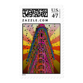 Psychedelic NYC - Top of the Flatiron Building A2 Postage