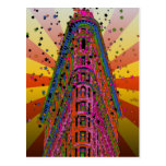 Psychedelic NYC - Top of the Flatiron Building A2 Post Card