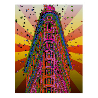 Psychedelic NYC - Top of the Flatiron Building A2 Postcard