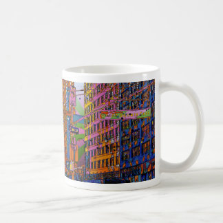 Psychedelic NYC: Union Square Building, St Sign A1 Classic White Coffee Mug