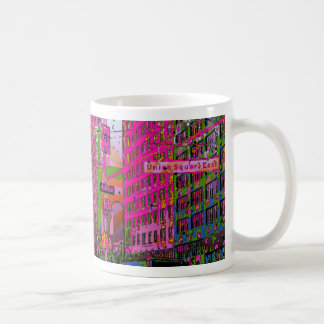 Psychedelic NYC: Union Square Building, St Sign A3 Coffee Mug