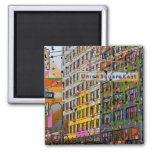 Psychedelic NYC: Union Square Building, St Sign A4 Refrigerator Magnet
