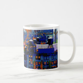 Psychedelic NYC: Water Towers in Winter #6 Coffee Mug