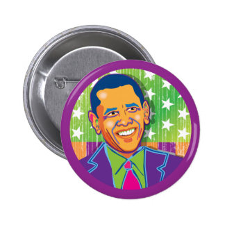 Psychedelic Obama Buttons