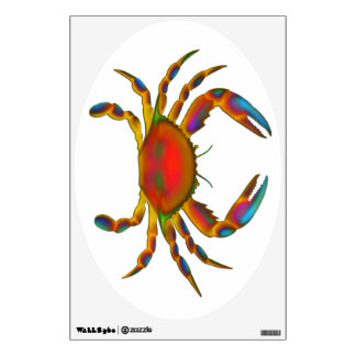 Psychedelic Ocean Crab Wall Decal