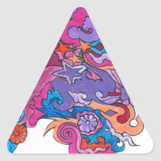Psychedelic Octopus Triangle Sticker