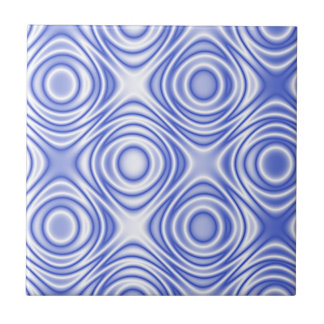 Psychedelic Optical Illusion: Omnipresent Blue Eye Tile