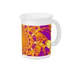psychedelic orange beverage pitcher