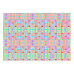 Psychedelic Orange Cool Abstract Triangle Pattern Business Cards