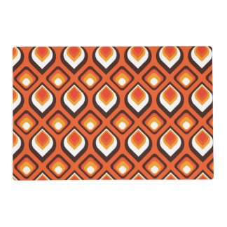 Psychedelic orange placemat