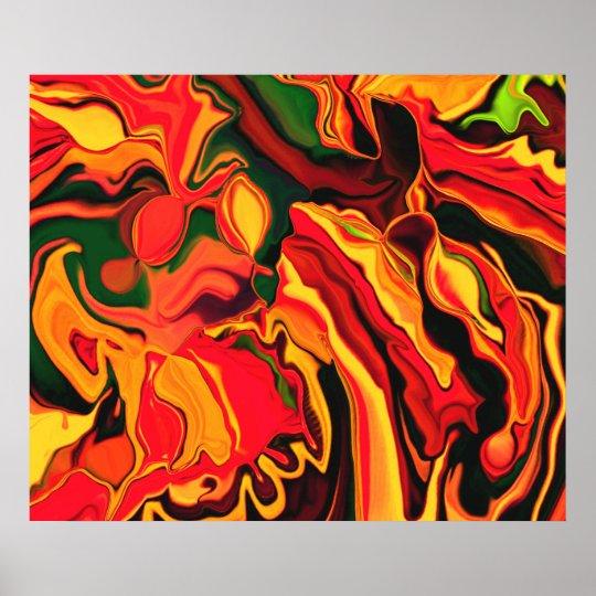 Psychedelic Orange Poster