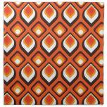 Psychedelic Orange Printed Napkin