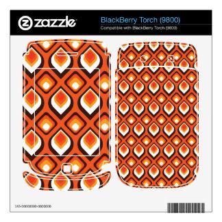 Psychedelic Orange BlackBerry Decals