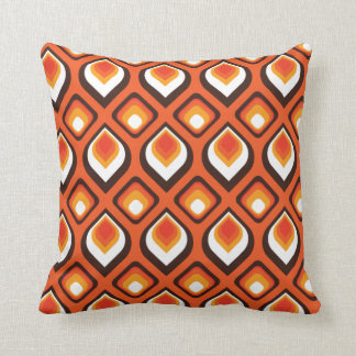 Psychedelic Orange Throw Pillow
